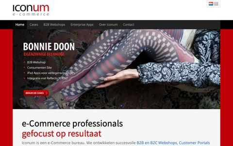 Screenshot of Home Page iconum.com - B2B en B2C e-Commerce Internetbureau | Iconum - captured Oct. 1, 2018