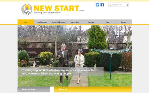 Screenshot of Home Page newstarthomes.org.uk - New Start Homes - captured Feb. 14, 2016