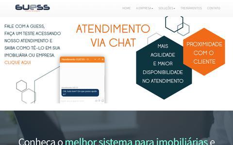 Screenshot of Home Page guessnet.com.br - Sistemas e Sites para Imobiliárias | Locação, Vendas e Vistorias - captured Sept. 27, 2018