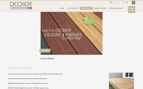 Screenshot of Pricing Page decker.com.au - Composite Decking Prices |Sydney|NSW|Brisbane|Queensland – Composite Decking | Sydney | NSW |Melbourne |Vic |Brisbane |QLD - captured Feb. 7, 2018