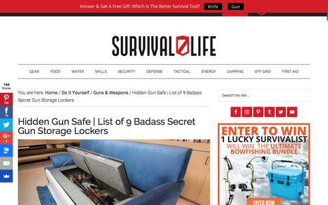 Screenshot of survivallife.com - Hidden Gun Safe | List of 9 Badass Secret Gun Lockers - captured Feb. 15, 2017