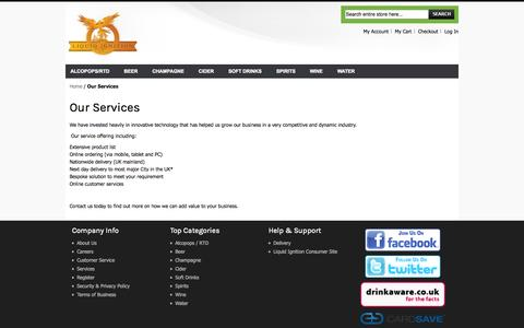 Screenshot of Services Page liquidignition.com - Our Services  - Liquid Ignition - captured Oct. 2, 2014