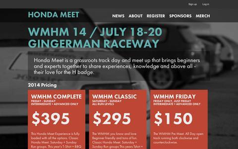 Screenshot of About Page hondameet.com - Honda Meet / WMHM 14 - captured Oct. 26, 2014