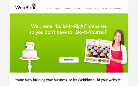 Screenshot of Home Page webblox.com - Web Blox | Bend, OR-based | Beautiful, Editable & Affordable Websites - Home - captured Aug. 13, 2015