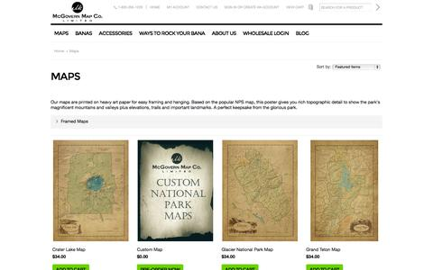 Screenshot of Maps & Directions Page mcgovernmaps.com - Maps - McGovern Maps Company L I M I T E D - captured Oct. 27, 2014