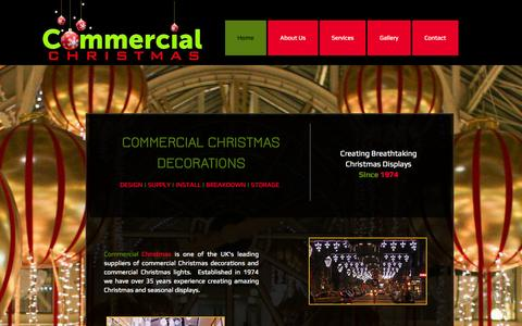 Screenshot of Home Page commercialchristmas.co.uk - Commercial Christmas Decorations - captured Sept. 29, 2014