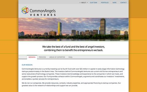 Screenshot of About Page commonangels.com - About | CommonAngels - captured Oct. 27, 2014