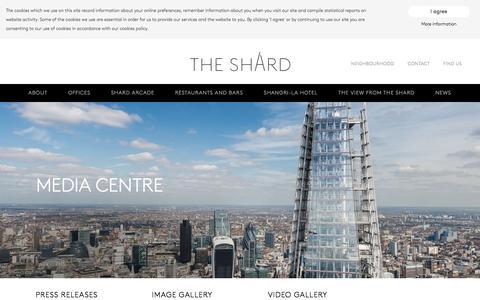 Screenshot of Login Page the-shard.com - Media Centre | The Shard - captured Jan. 16, 2016