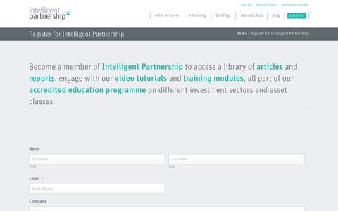 Screenshot of Signup Page intelligent-partnership.com - Register for Intelligent Partnership - Intelligent Partnership - captured Oct. 24, 2018
