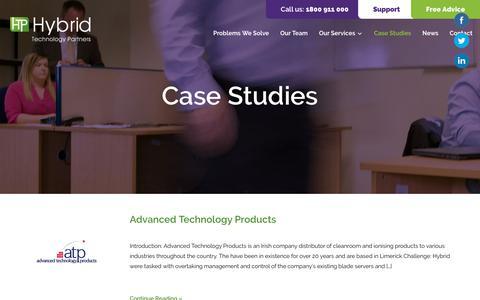 Screenshot of Case Studies Page hybridtp.ie - Case Studies – Hybrid TP - captured Dec. 16, 2018