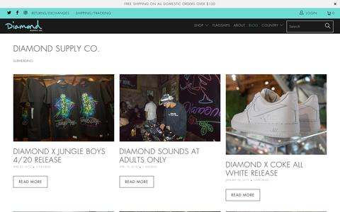 Screenshot of Press Page diamondsupplyco.com - Diamond Supply Co. - captured May 21, 2019