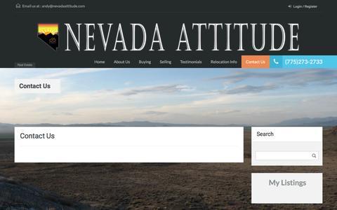 Screenshot of Contact Page nevadaattitude.com - Contact Us – Nevada Attitude - captured June 22, 2016