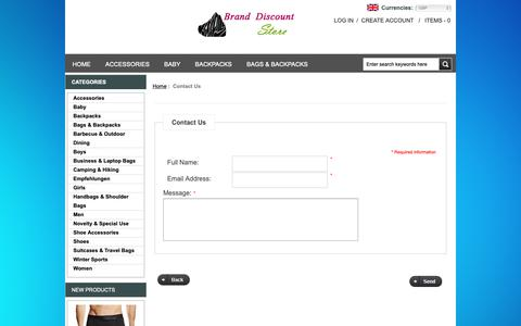 Screenshot of Contact Page strandfreight.co.uk - Contact Us : Women's Jewellery,Best Top-Handle Bags - captured Oct. 19, 2018