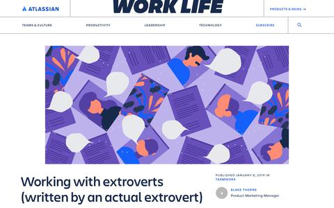Screenshot of Jobs Page atlassian.com - Working with extroverts (written by an actual extrovert) - Work Life by Atlassian - captured May 30, 2019