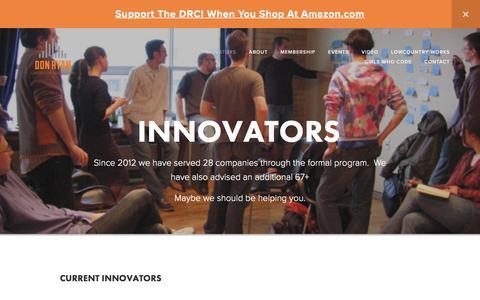 Screenshot of Menu Page ryan-innovation-center.com - Innovators — Don Ryan Center for Innovation - captured Nov. 24, 2016