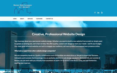 Screenshot of Home Page bostonwebco.com - Website Design Boston - Boston Web Co - captured Nov. 29, 2017