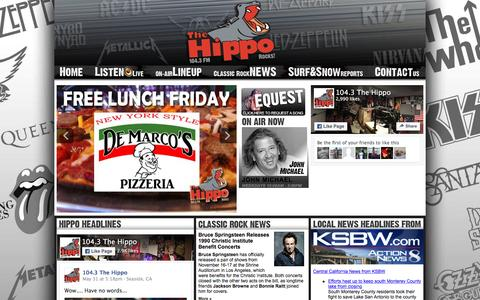 Screenshot of Home Page Terms Page thehippo.com - TheHippo.com | KHIP | Classic Rock 104.3 The Hippo - captured June 2, 2016