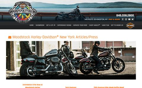 Screenshot of Press Page woodstockharley.com - Articles | Woodstock Harley-Davidson® | Kingston New York - captured Oct. 20, 2018