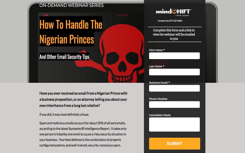 How To Handle The Nigerian Princes and Other Email Security Tips Webinar