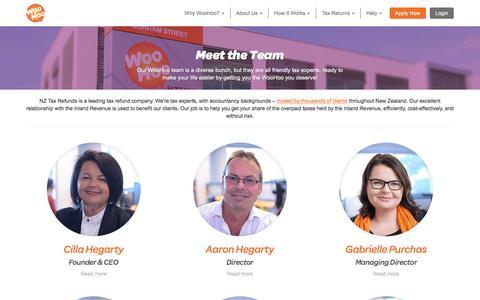 Screenshot of Team Page nztaxrefunds.co.nz - Meet The Team | NZ Tax Refunds - captured Dec. 1, 2016