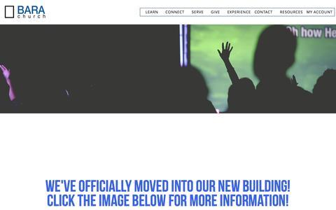 Screenshot of Home Page barachurch.com - Bara Church - captured May 31, 2017
