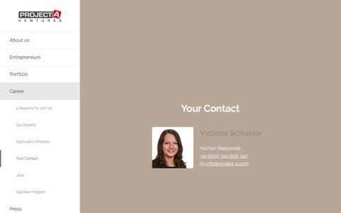 Screenshot of project-a.com - Project A Ventures   We build companies   Your Contact - captured March 29, 2016