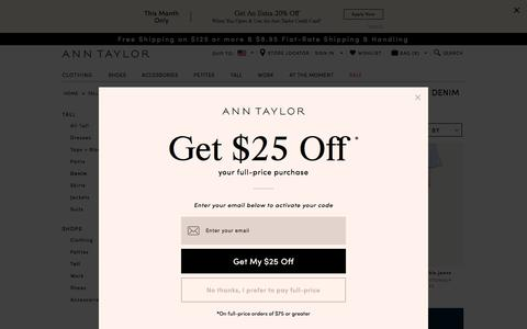 Tall Women's Denim Jeans : ANN TAYLOR