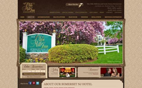 Screenshot of About Page oldemillinn.com - Somerset NJ Hotel: Learn More about Our Somerset NJ Hotel - captured Oct. 26, 2014