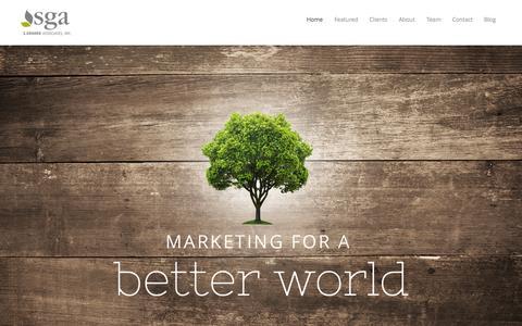 Screenshot of Home Page sga-inc.net - SGA   Marketing for a better world. - captured Aug. 2, 2015
