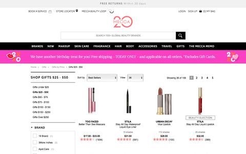 Shop Mecca Beauty Gifts $25-$50 | MECCA