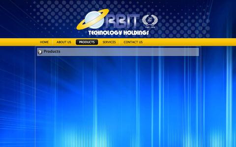 Screenshot of Products Page orbit.com.na - Products   Orbit Technology Holdings - captured Oct. 7, 2014