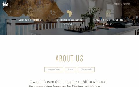 Screenshot of About Page journeysbydesign.com - About Us - Journeys by Design - captured Oct. 16, 2017
