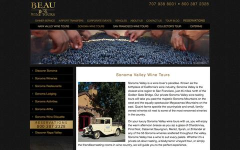 Sonoma Valley Wine Tours - Luxury Private Wine Tasting - Limo Tour