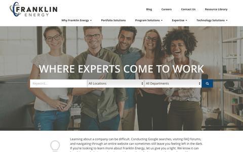 Screenshot of Jobs Page jobvite.com - Franklin Energy Careers - captured Oct. 11, 2018