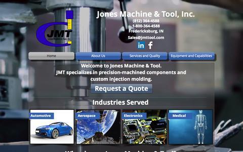 Screenshot of Home Page jmttool.com - jones-machine - captured Sept. 7, 2015