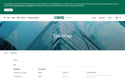 Screenshot of Site Map Page cbre.co.th - Site Map   CBRE Thailand - captured Aug. 9, 2019