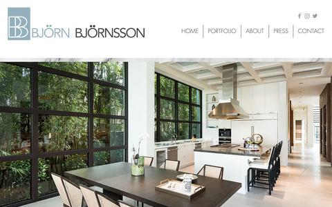 Screenshot of Home Page bjornbjornsson.com - Bjorn Bjornsson Interior Design   New York, NY   Home - captured Oct. 5, 2018
