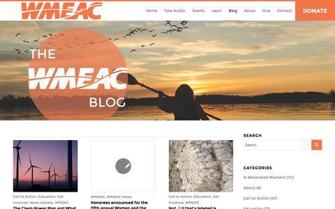 Screenshot of Blog wmeac.org - Blog - WMEAC - captured Feb. 24, 2016