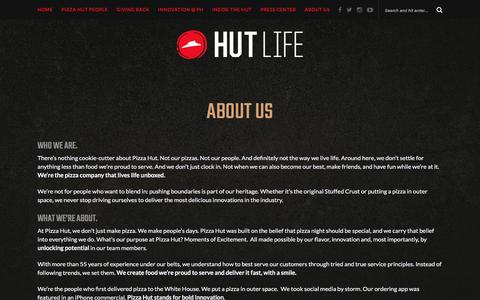 Pizza Hut: About Us