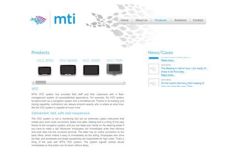 Screenshot of Products Page mtitelematics.com - Products - MTI Telematics - captured Feb. 3, 2016