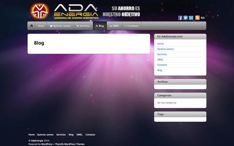 Screenshot of Blog adaenergia.com - Blog - captured Sept. 30, 2014