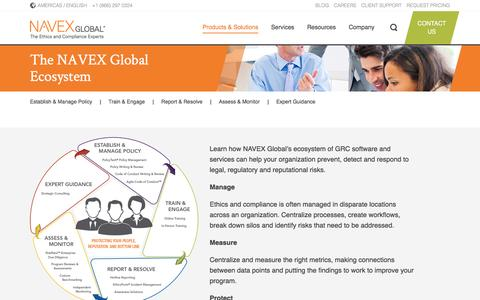 Screenshot of Products Page navexglobal.com - Compliance and Risk (GRC)   NAVEX Global - captured July 12, 2016