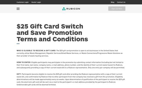 Rubicon Global - Switch & Save Terms and Conditions