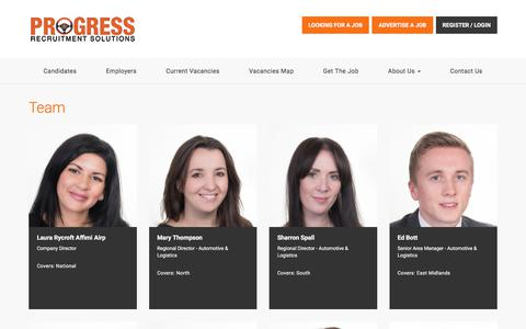Screenshot of Team Page progressrecruitment.co.uk - Team - captured April 26, 2018