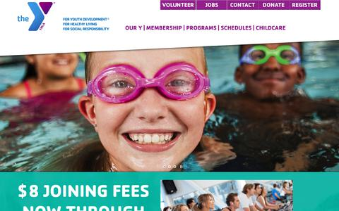 Screenshot of Home Page bismarckymca.org captured Oct. 19, 2018