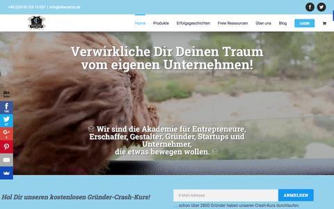 Screenshot of Home Page ideacamp.de - Home - IdeaCamp - captured Nov. 16, 2015
