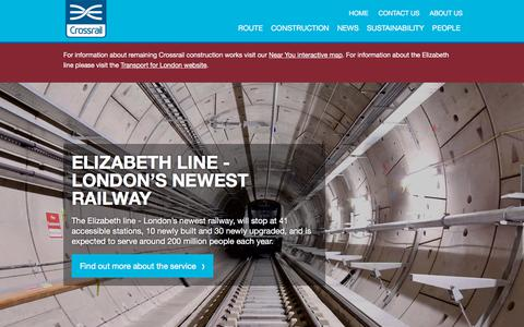 Screenshot of Home Page crossrail.co.uk - Crossrail - Crossrail - captured Sept. 26, 2018