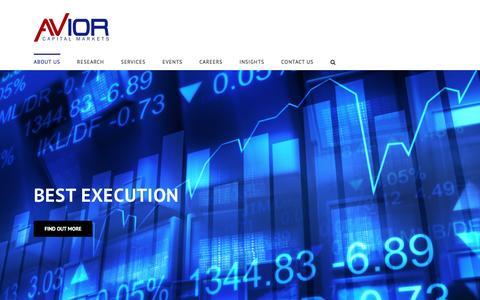 Screenshot of Home Page avior.co.za - About Us | Avior Capital Markets - captured Nov. 21, 2016