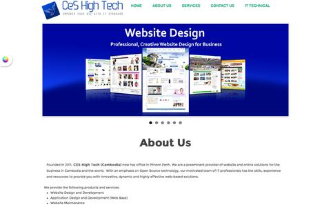 Screenshot of About Page ceshightech.com - Web Design - Web Development - Application Development - IT Solution - Network Solution - CEShightech.com | About Website Design Specialist in Cambodia - captured Dec. 5, 2015