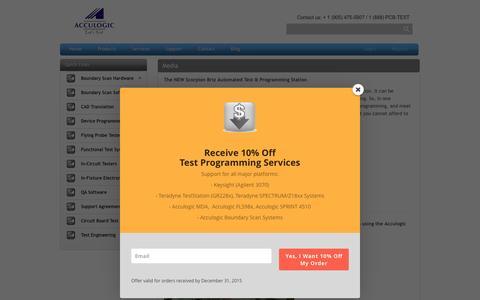 Screenshot of Press Page acculogic.com - Media   Acculogic Inc. - captured Dec. 10, 2015